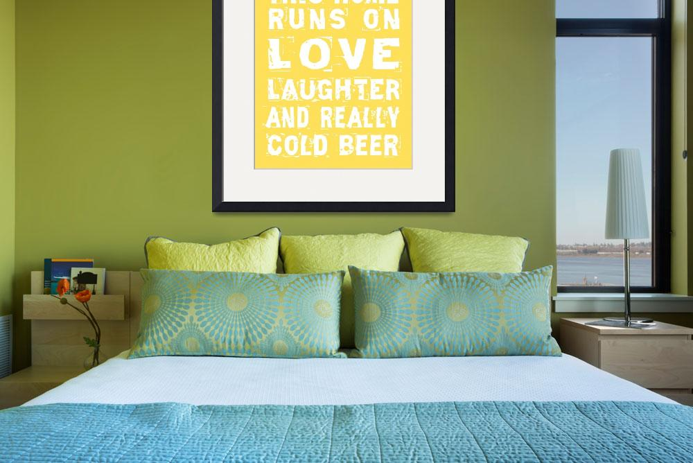 """Love and Cold Beer Poster&quot  (2011) by designsbyjaime"