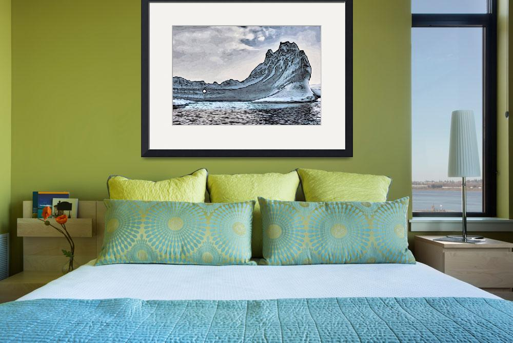 """Icebergs near the Antarctic Peninsula.&quot  (2012) by WallArtDeco"