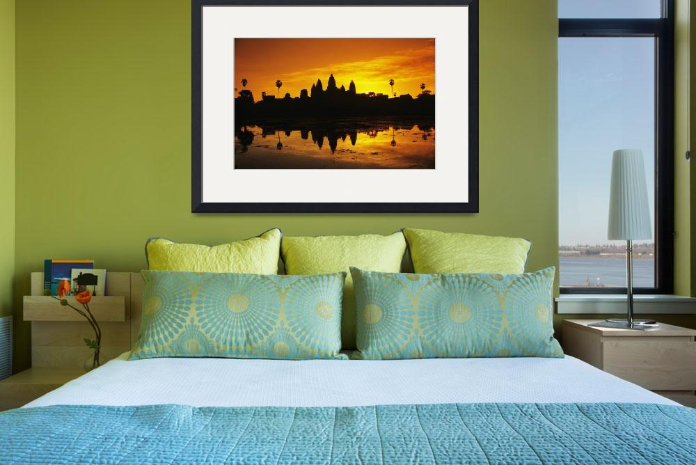 """Cambodia, Siem Reap, Angkor Wat, Silhouette Of Tem&quot  by DesignPics"