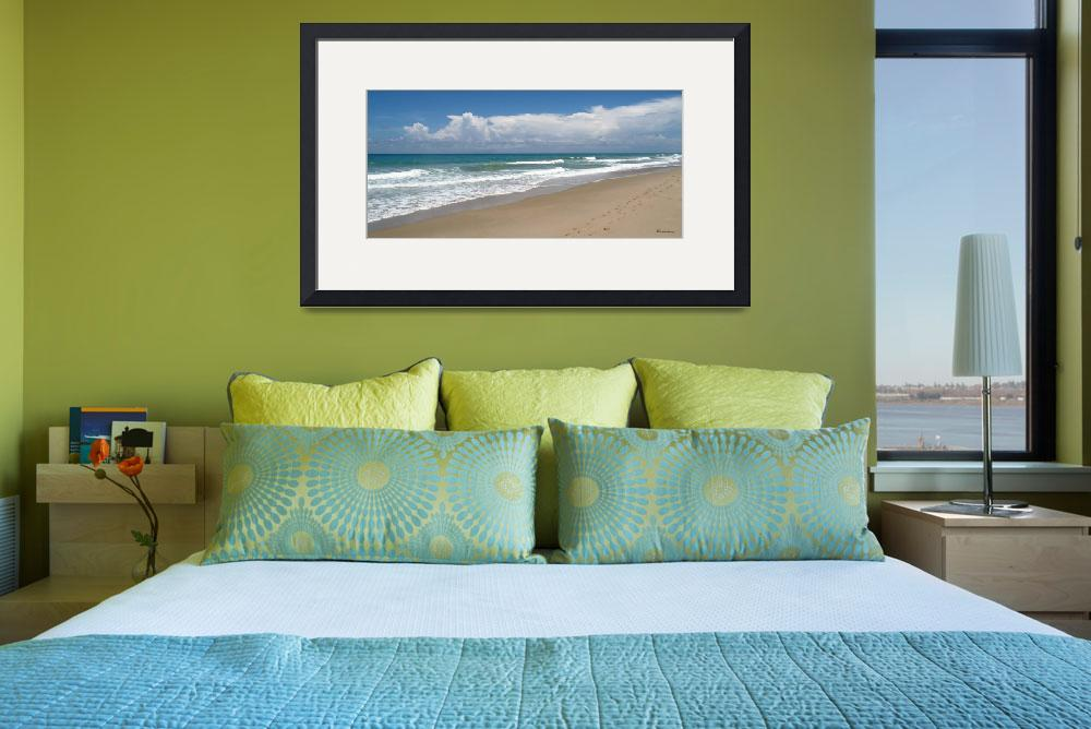 """Treasure Coast Beach Florida Seascape C4&quot  (2015) by Ricardos"
