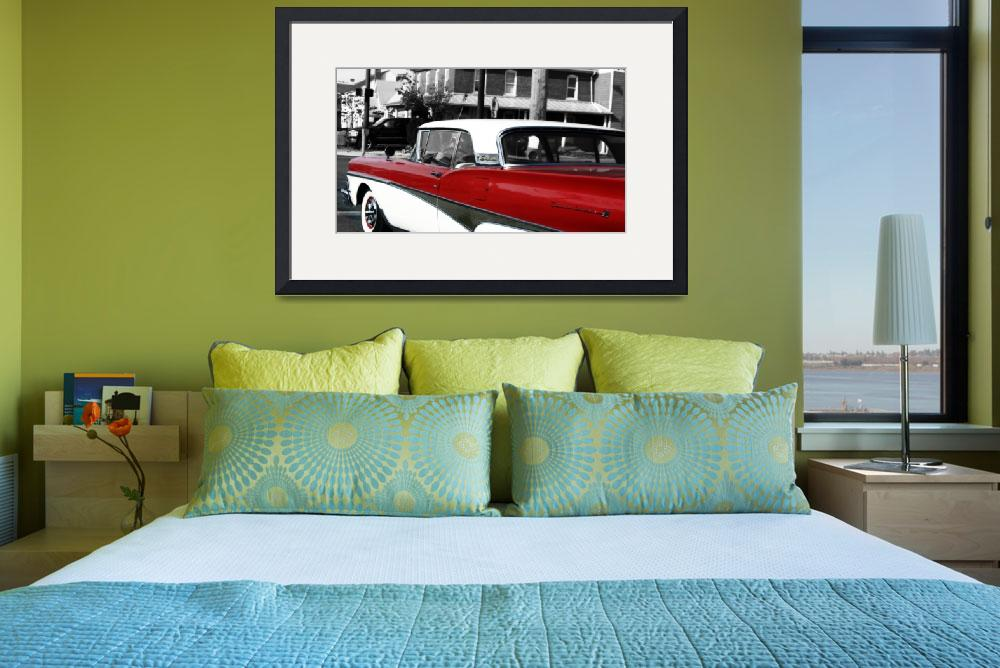 """1958 Ford Fairlane Skyliner 500&quot  by Digmansworld"