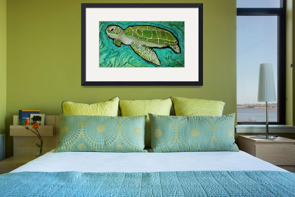 """Green Sea Turtle&quot  (2009) by ArtPrints"