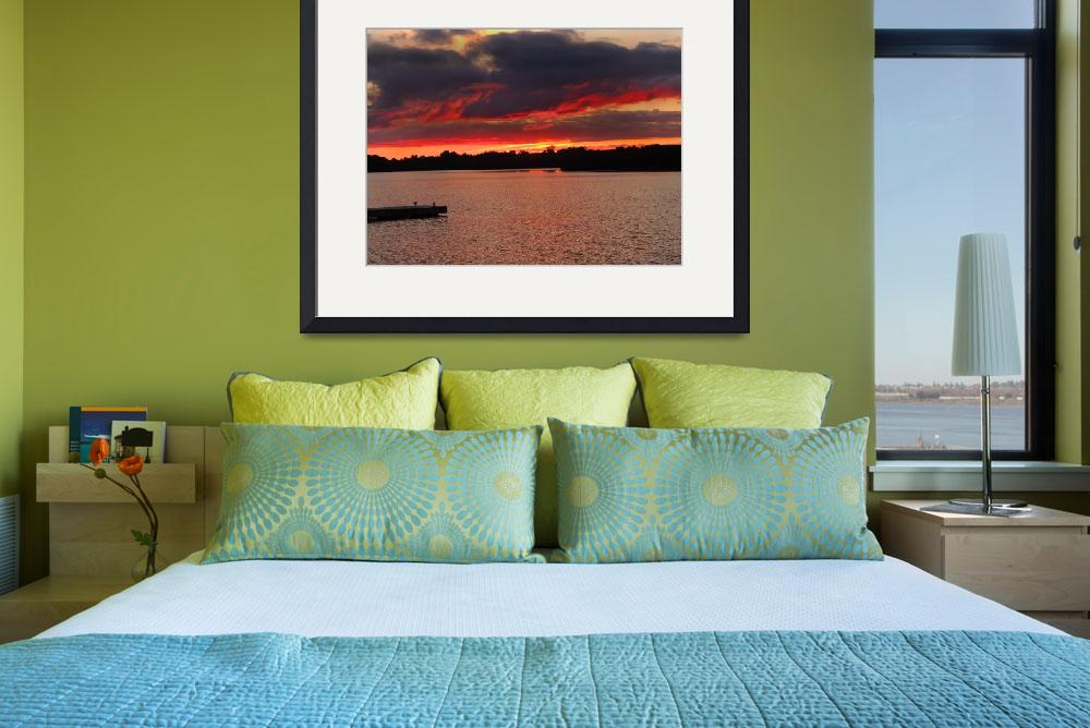 """Sunset at Muckross Bay (Lough Erne)&quot  (2013) by JMcCoubreyPhotography"