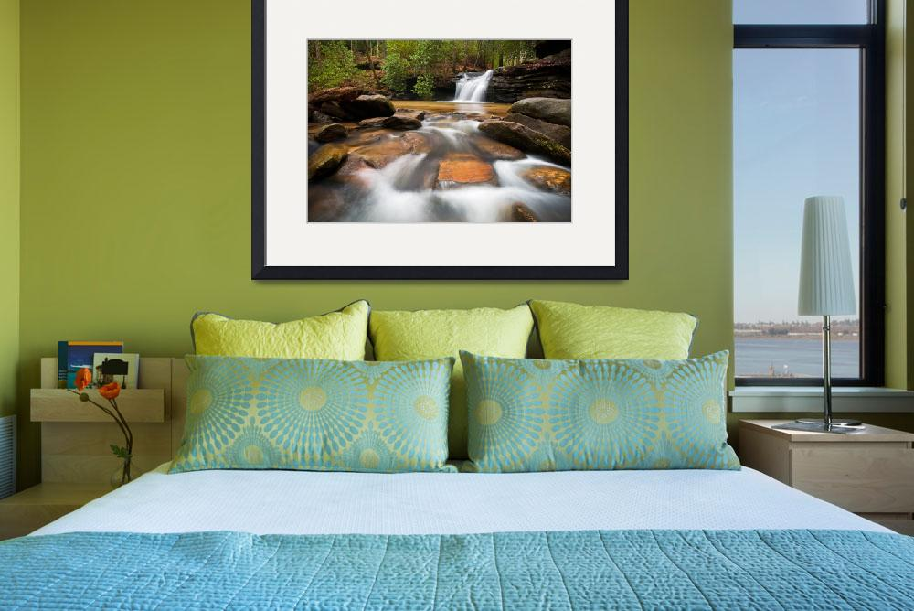 """Upstate SC Waterfall Landscape Blue Ridge Mountain&quot  (2012) by DAPhoto"
