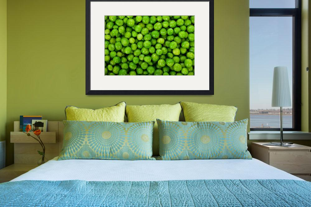 """Green peas background&quot  (2012) by ArgosDesigns"