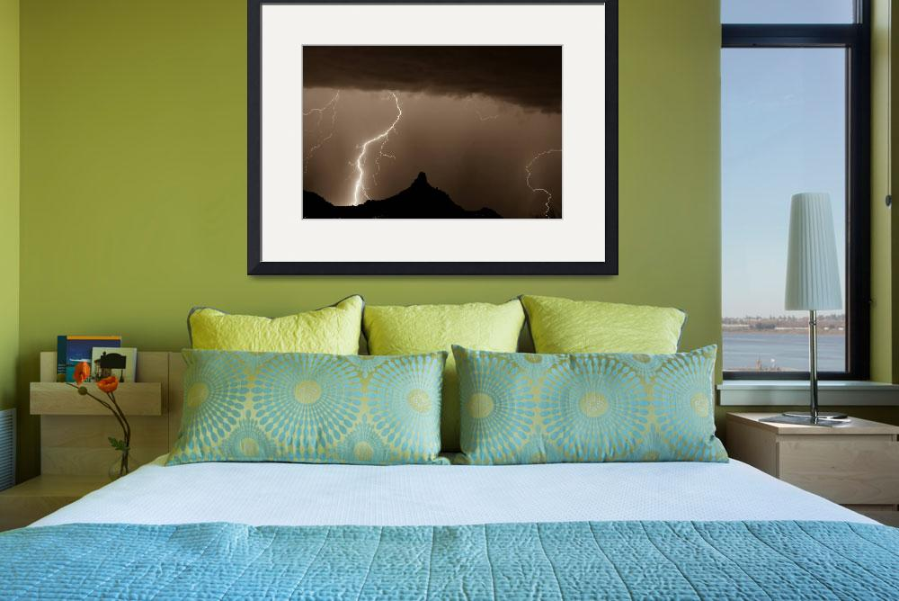 """Lightning Storm at Pinnacle Peak&quot  (2001) by lightningman"