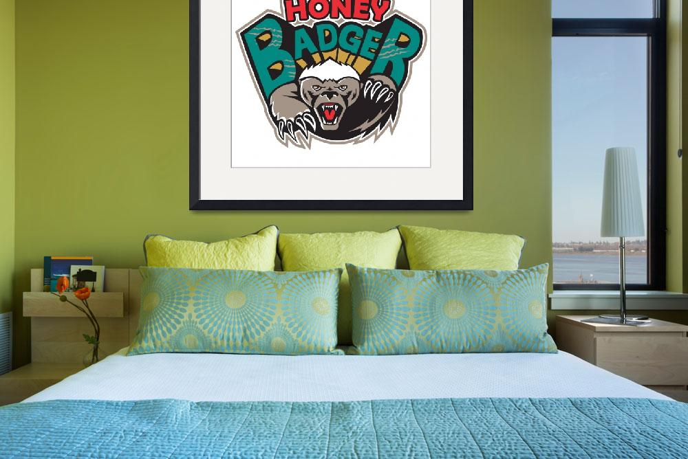 """Honey Badger Mascot Front&quot  (2013) by patrimonio"