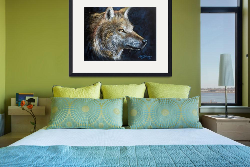 """THE WOLF in PASTEL&quot  (2016) by MBaldwinFineArt2006"