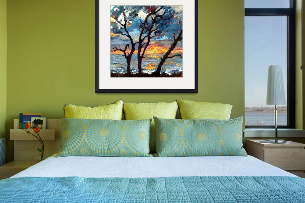 """Jekyll Island View From My Balcony SUNRISE&quot  (2004) by GinetteCallaway"