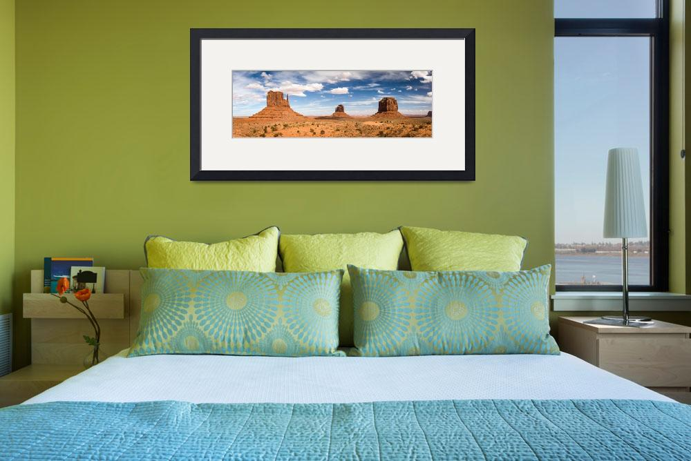 """Monument Valley Daytime Panoramic 3x1&quot  by cyorkphoto"
