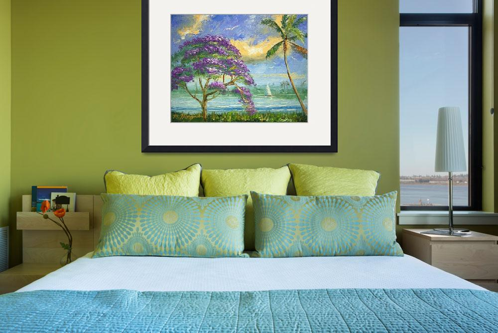 """Jacaranda and Palm Tree&quot  (2010) by mazz"