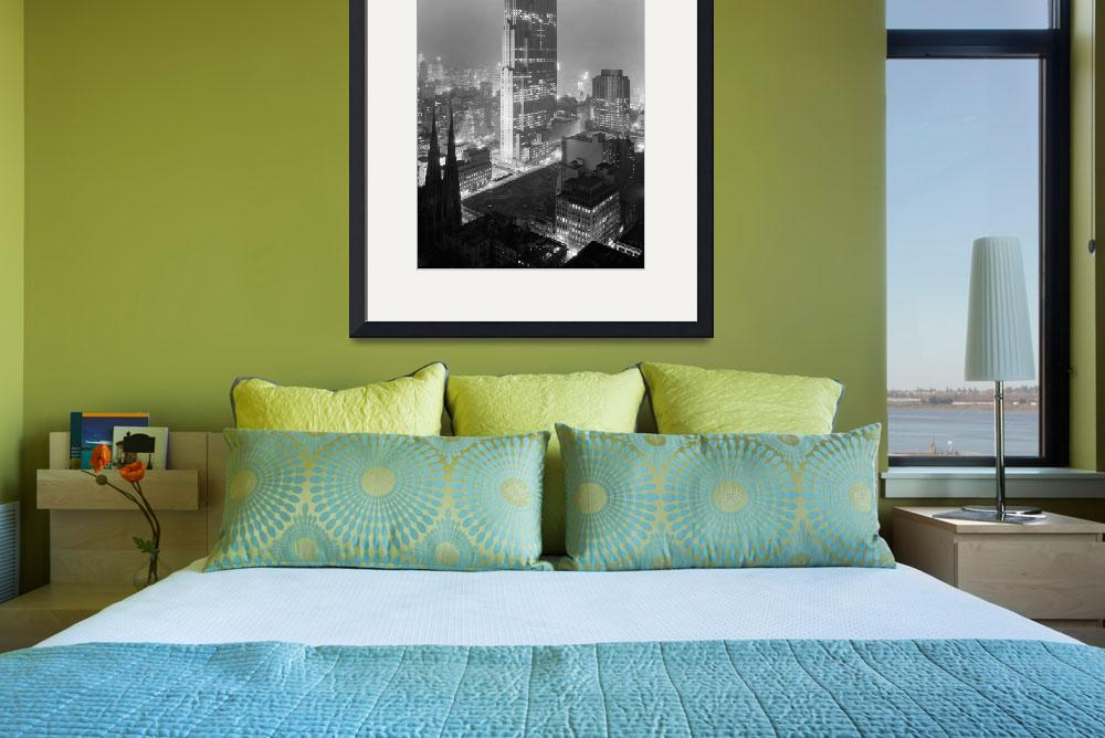 """Vintage Photograph of Rockefeller Center (1933)&quot  by Alleycatshirts"