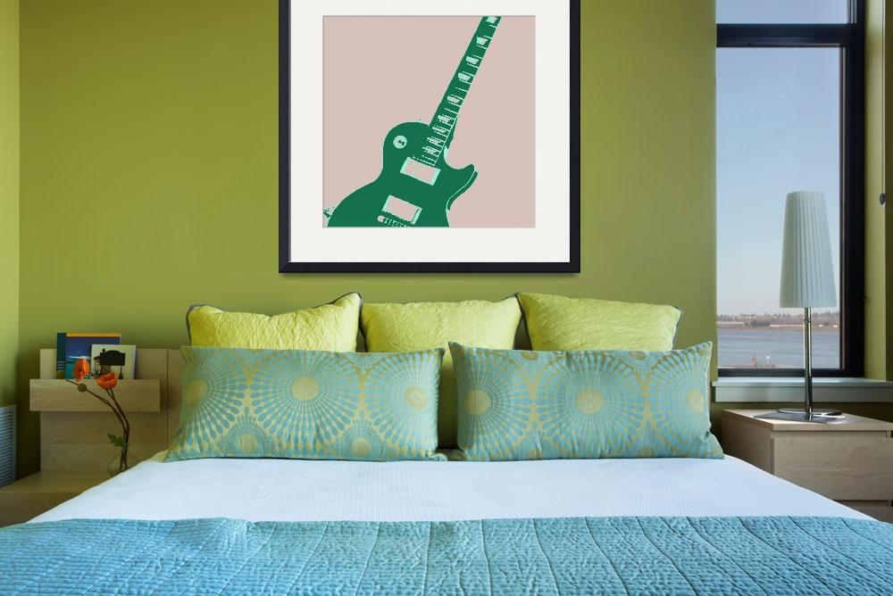 """Electric Guitar Pop Art&quot  (2011) by crazyabouthercats"
