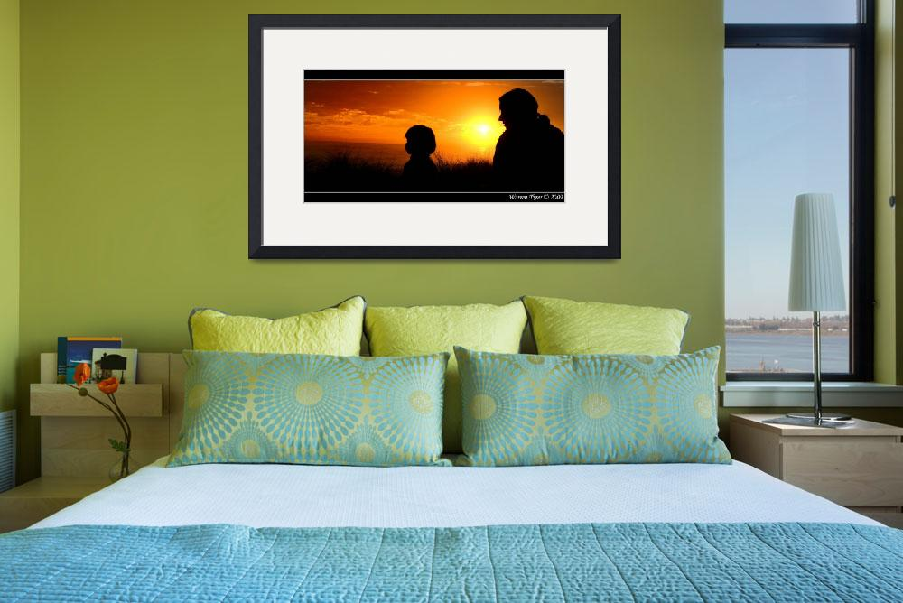 """Mother-&-Son-silhouette.jpg&quot  (2009) by WarrenT"