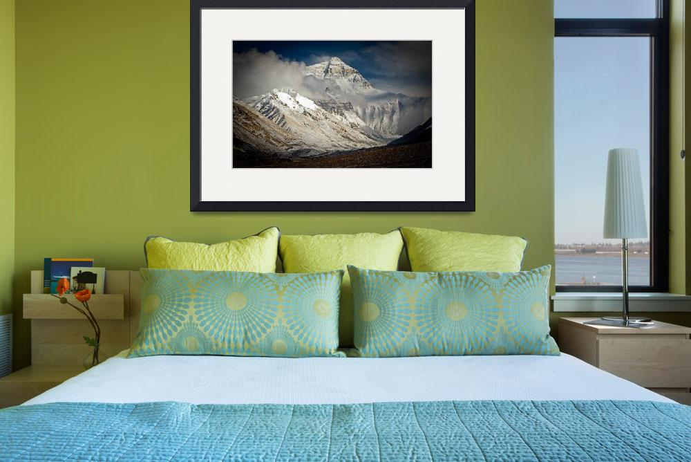 """Everest from Rongbuk, Tibet, after fresh snow&quot  (2006) by ExposedPlanet"