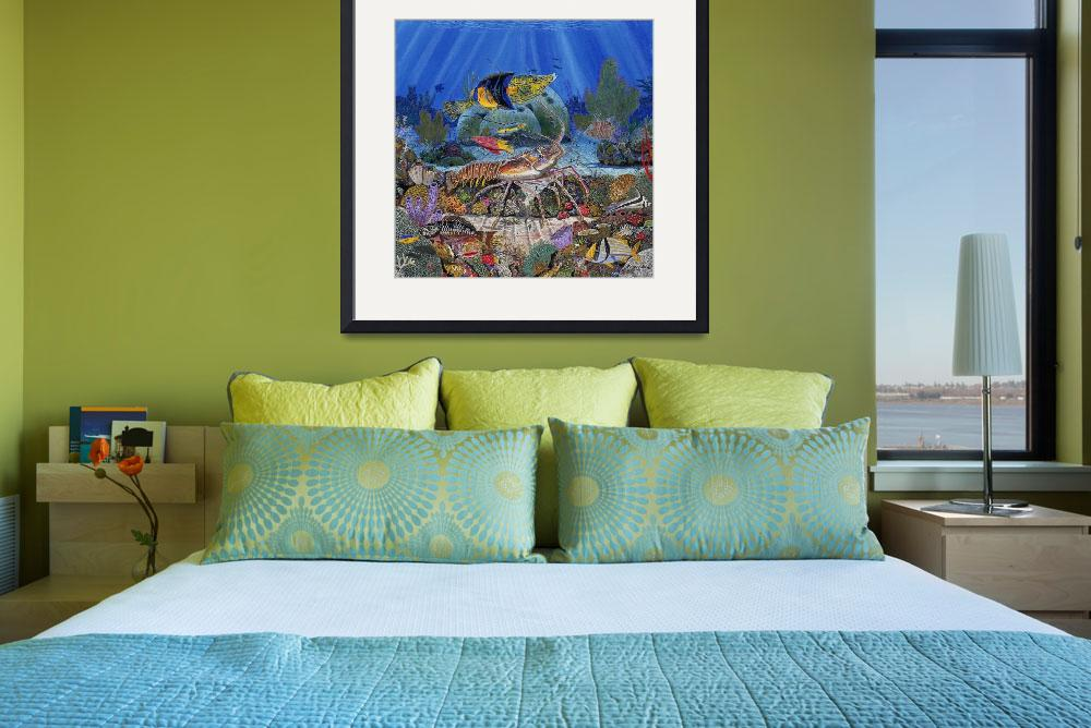 """Lobster Reef&quot  (2010) by Bluemarlin"