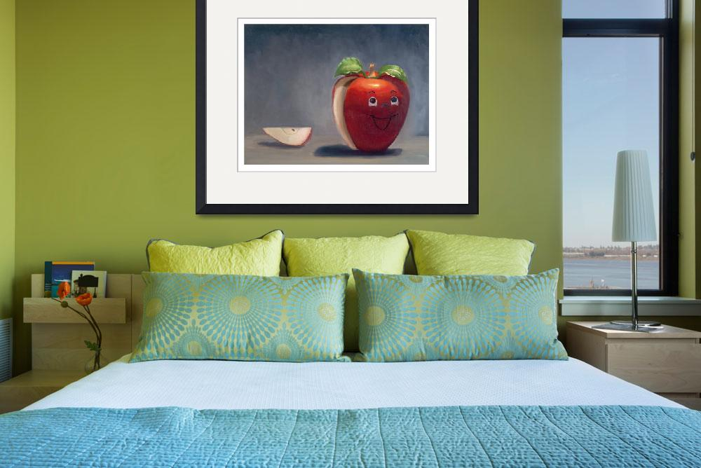 """Happy Apple&quot  (2009) by jolieguillebeau"