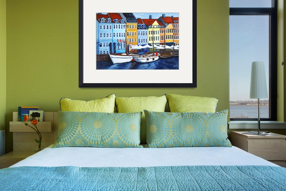 """Colors of Nyhavn I&quot  (2005) by LisaLorenz"