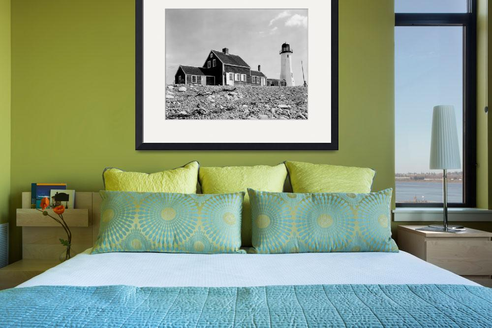 """Cedar Point Scituate Harbor #2, MA&quot  by ArtLoversOnline"