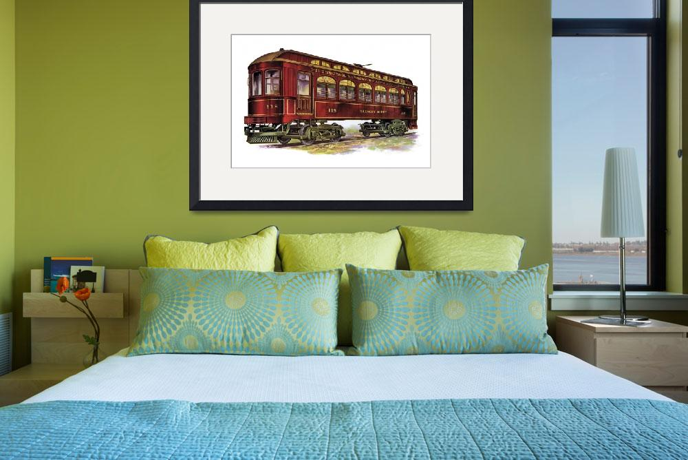 """Harmony Route Railway Car&quot  (1914) by PaperTimeMachine"