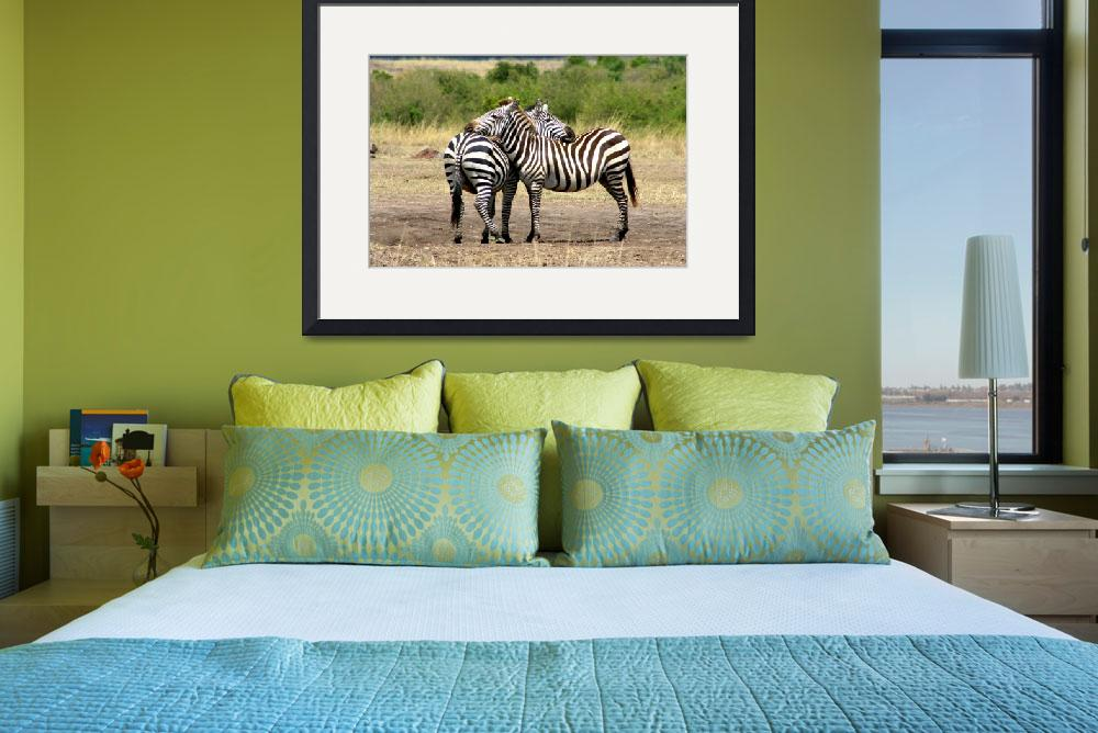 """zebras reunited&quot  (2006) by Rwill"