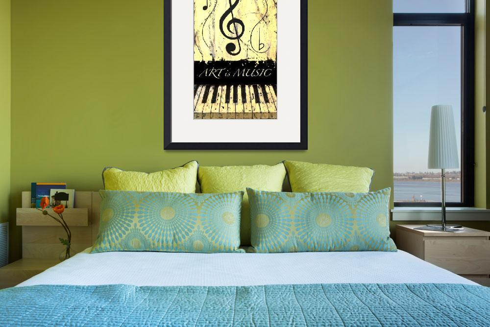 """ART is MUSIC Yellow&quot  by waynecantrell"
