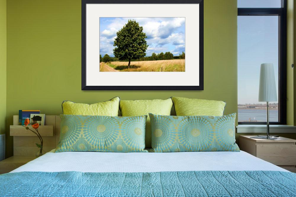"""tranquil landscape with one tree as a subject&quot  by sweethobbes"