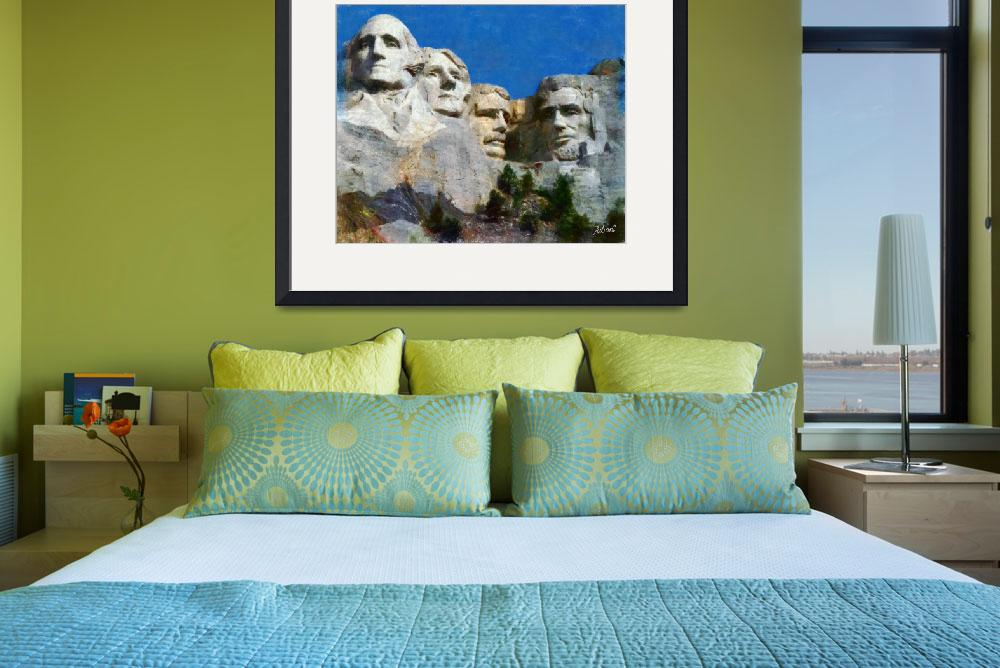 """MOUNT RUSHMORE USA&quot  (2010) by Zaboni"