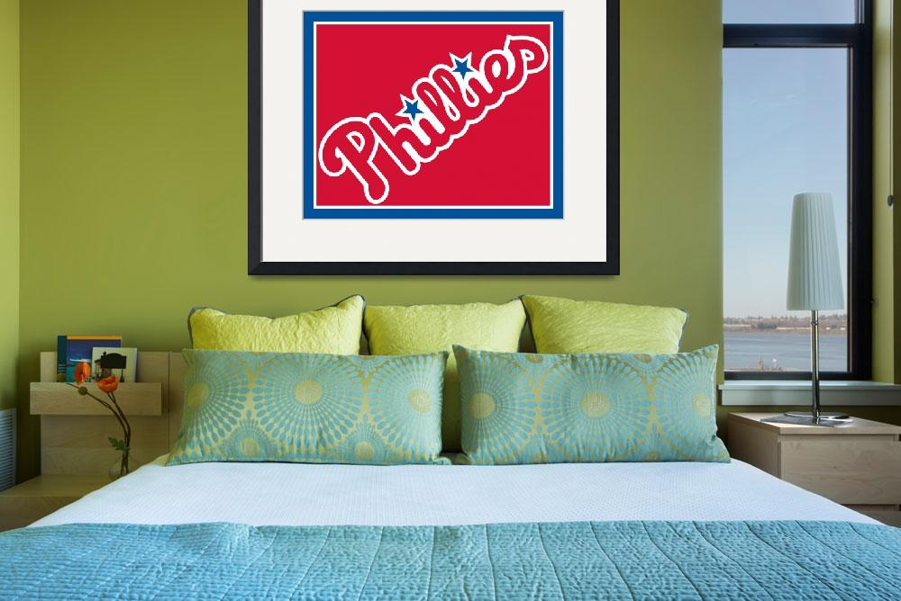 """Philadelphia Phillies Baseball&quot  by RubinoFineArt"