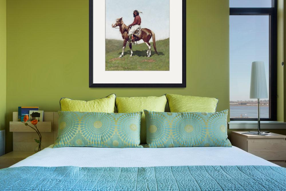 """Comanche Brave, Fort Reno by Frederic Remington&quot  by fineartmasters"