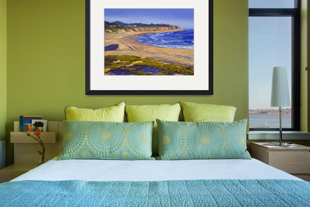"""California Beach: Half Moon Bay&quot  (2007) by KeatingArt"