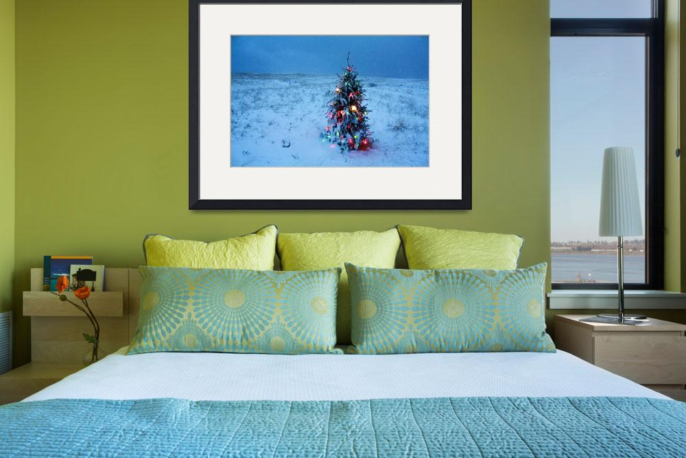 """Cape Cod Christmas Tree on the Beach&quot  (2015) by ChrisSeufert"
