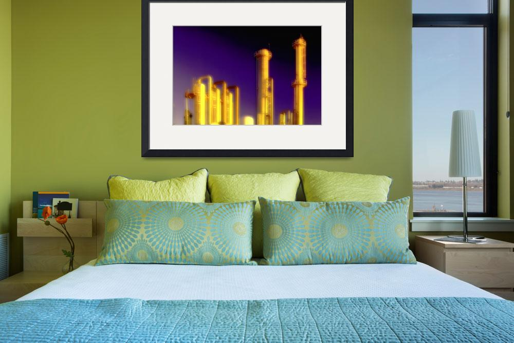 """Oil Refinery-Gold-Industry-Oilfield&quot  (2008) by Tulsa1000"