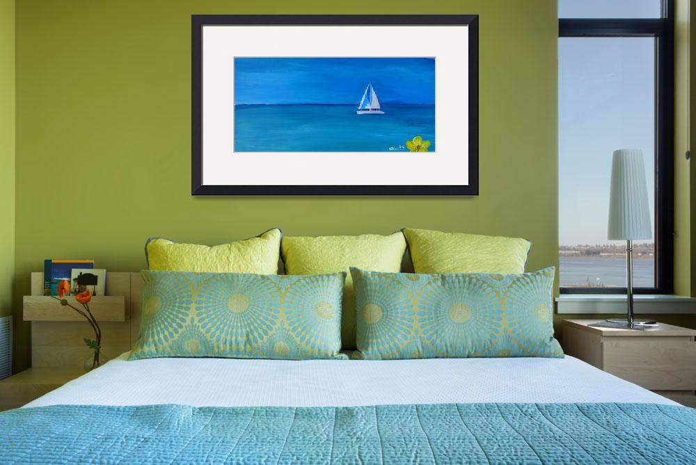 """Set_Sail_On_A_White_Boat_In_The_Caribbean_I&quot  by arthop77"
