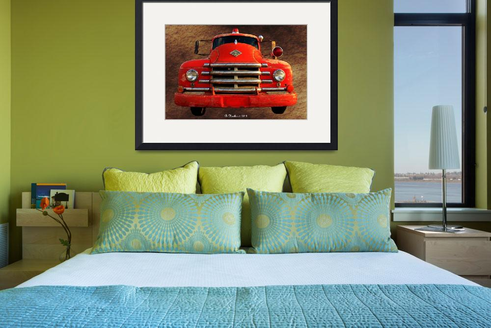 """1955 Diamond T Grille - The Cadillac Of Trucks&quot  (2011) by bettynorthcutt"