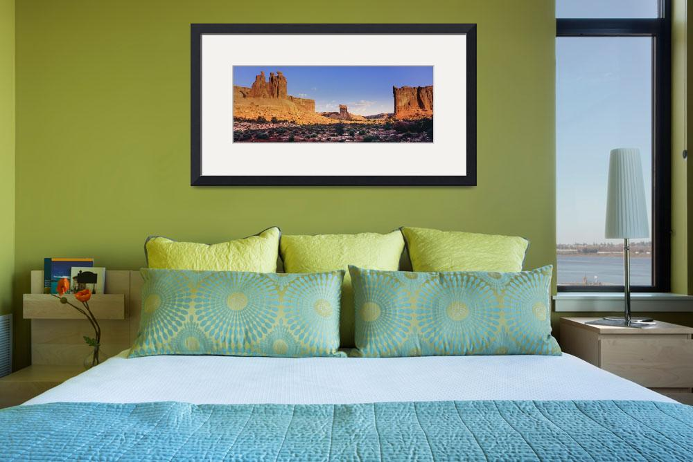 """3 Gossips & Courthouse Towers @ sunrise, Arches NP&quot  (2010) by JohnChaoPhoto"