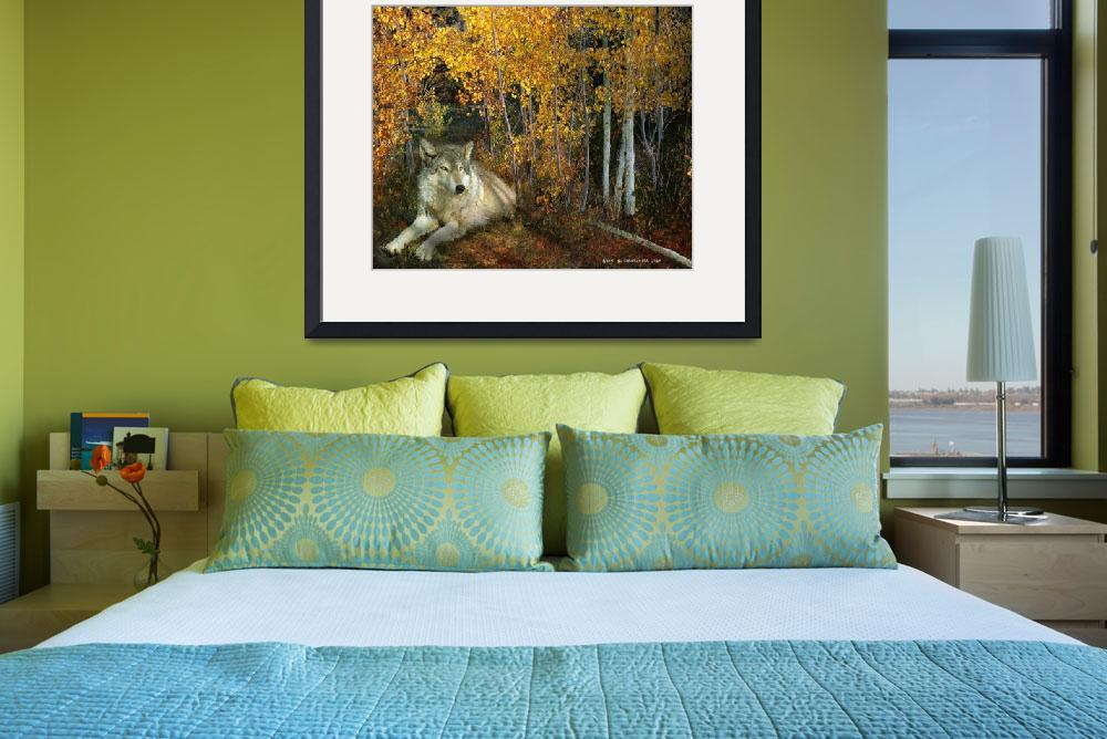 """autumn aspens wolf&quot  (2015) by rchristophervest"