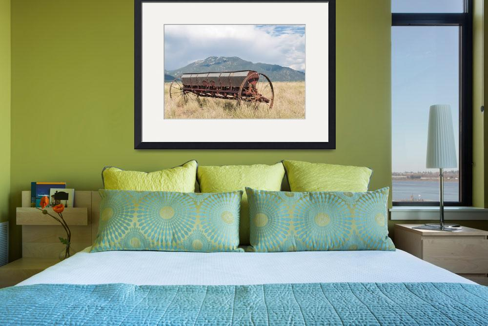 """Farm Machine and Mountains&quot  (2008) by GoCatGo"