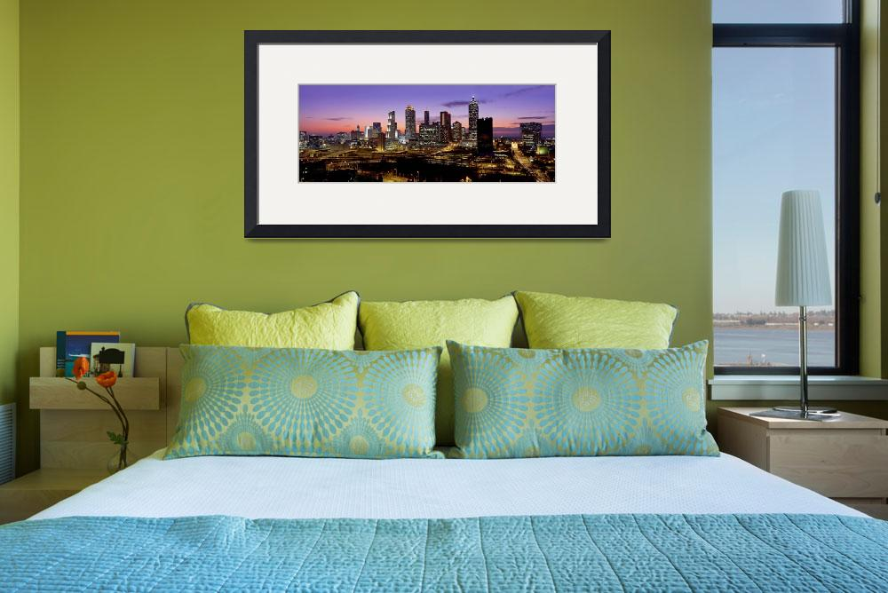 """Atlanta, GA at dusk&quot  by IK_Stores"