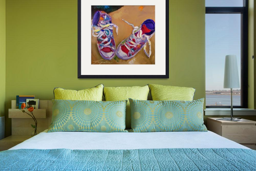 """Sneakers&quot  (2012) by jacquelinebrewerart"