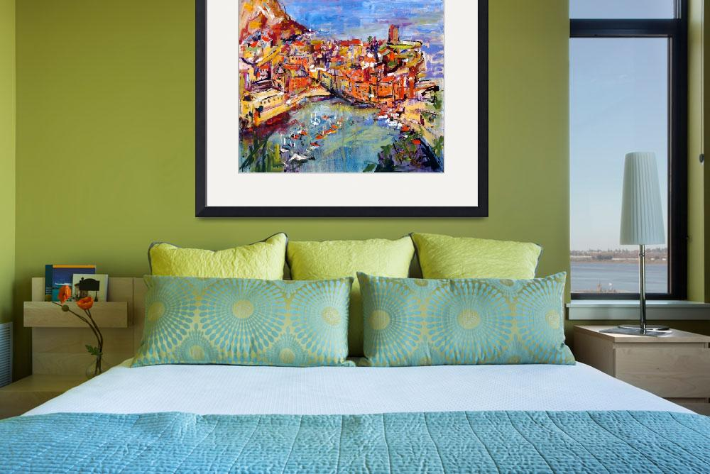 """Vernazza Italy Oil Painting by Ginette Callaway&quot  (2006) by GinetteCallaway"