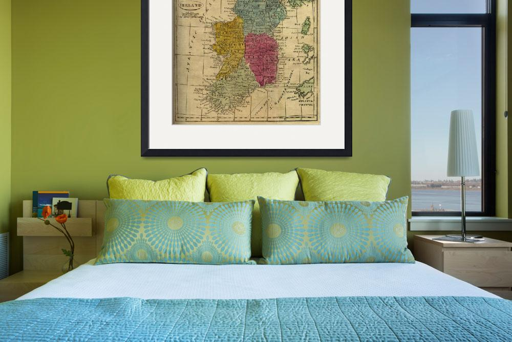 """Vintage Map of Ireland (1808)&quot  by Alleycatshirts"