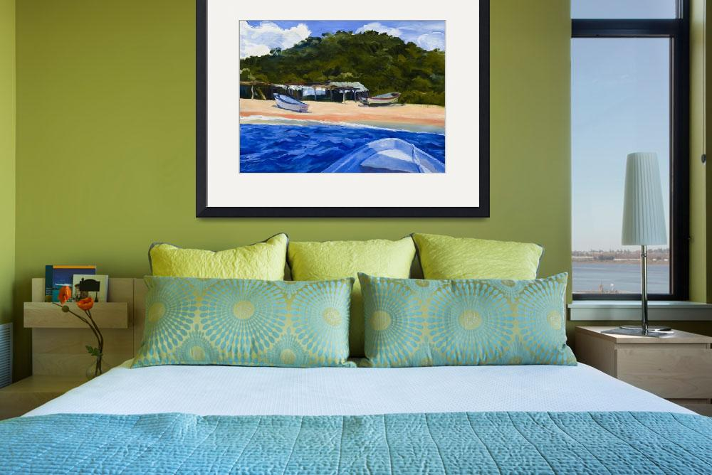 """Warren Keating MEXICO BEACH BOATS Fine Art Print&quot  (2007) by KeatingArt"