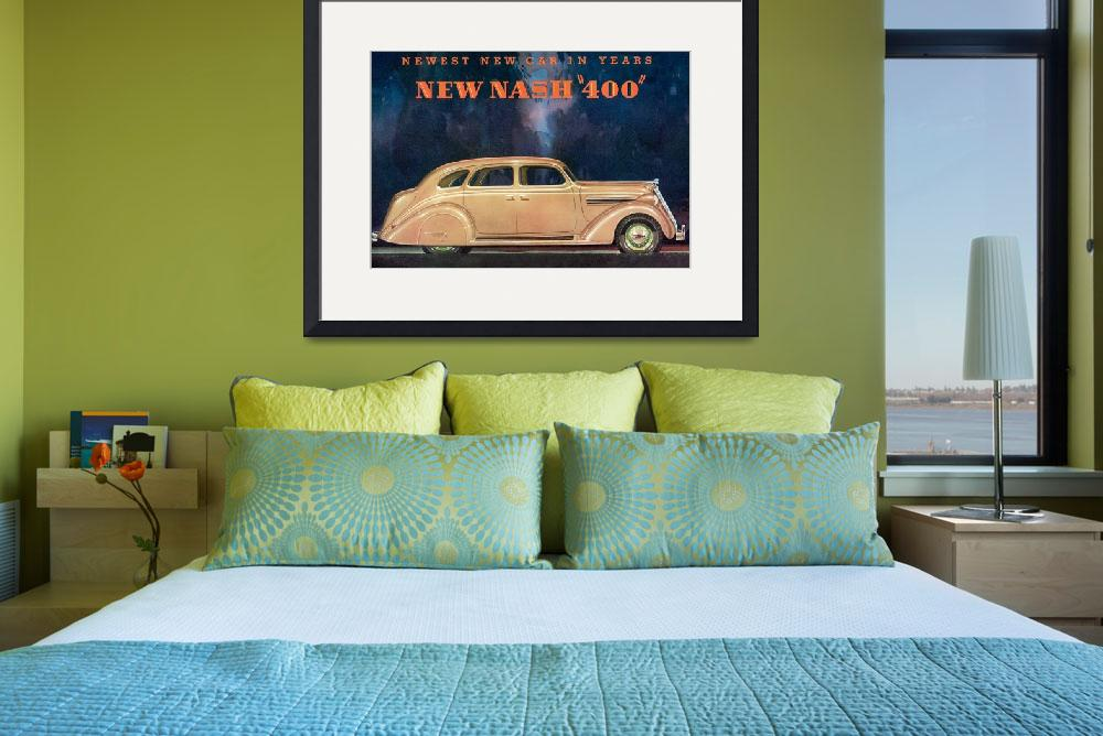 """Vintage Classic Automotive Poster #40&quot  by ArtLoversOnline"