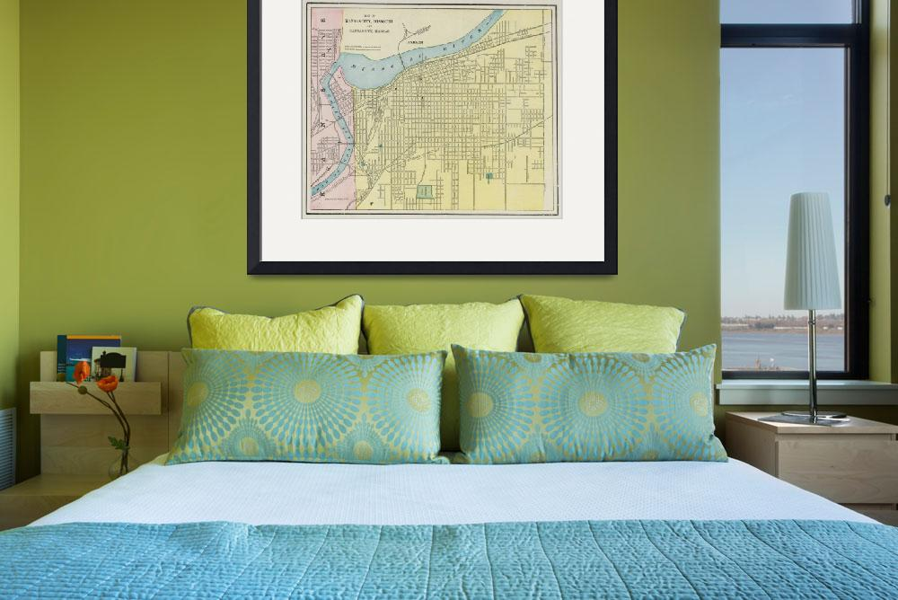 """Vintage Map of Kansas City Missouri (1901)&quot  by Alleycatshirts"