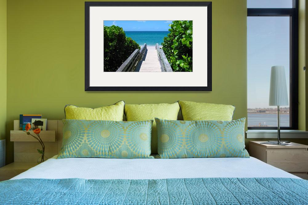 """Seascape Juno Beach Boardwalk B2&quot  (2015) by Ricardos"
