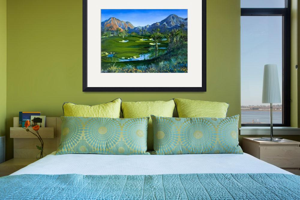 """Golf Indian Wells Celebrity Course #14 Print&quot  (2007) by KeatingArt"