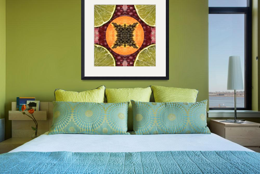 """Fruit mandala - papaya&quot  by belinda"