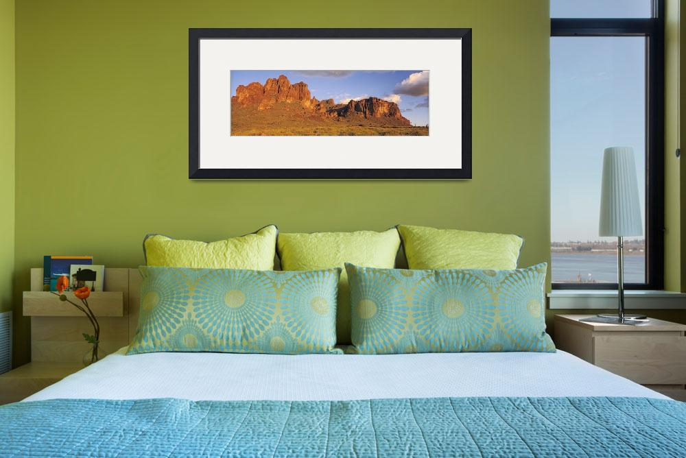 """Sunset Superstition Mountains Tonto National Fore&quot  by Panoramic_Images"