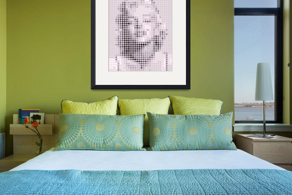 """Marilyn Monroe Gray Dots&quot  (2011) by jvorzimmer"